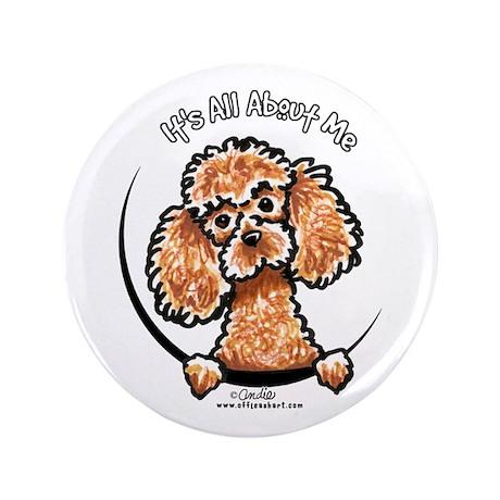 """Apricot Poodle IAAM 3.5"""" Button"""
