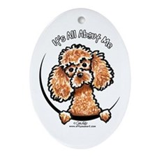Apricot Poodle IAAM Ornament (Oval)
