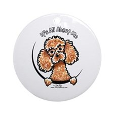 Apricot Poodle IAAM Ornament (Round)
