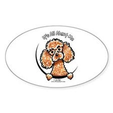Apricot Poodle IAAM Decal