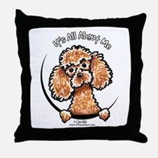 Apricot Poodle IAAM Throw Pillow
