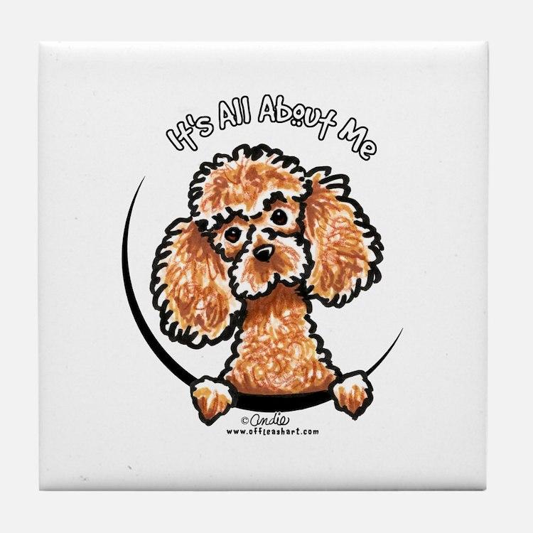 Apricot Poodle IAAM Tile Coaster