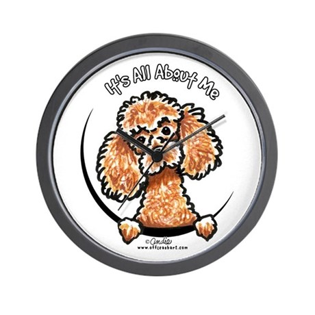 Apricot Poodle IAAM Wall Clock