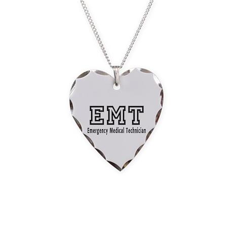 EMT Logo Necklace Heart Charm