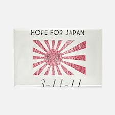 Vintage Hope For Japan Rectangle Magnet
