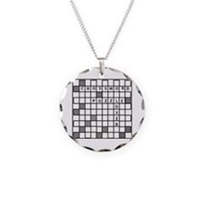Cute Crossword Necklace
