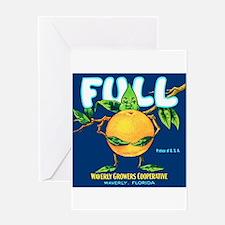 Unique Orange fruit Greeting Card