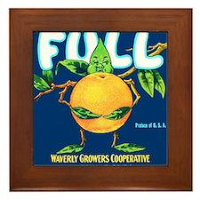 Cool Vintage fruit crate Framed Tile