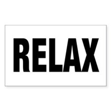 Frankie Says RELAX Retro 80s Rectangle Decal