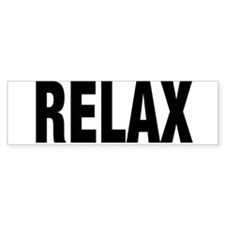 Frankie Says RELAX Retro 80s Bumper Bumper Sticker