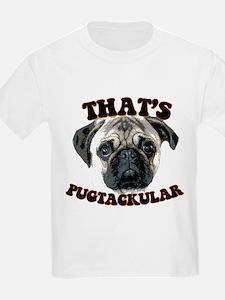 """thats pugtackular"" pug tshir Kids T-Shirt"