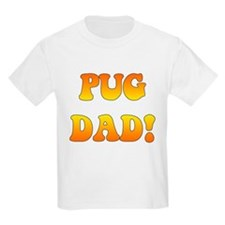 """pug dad"" in orange gradient Kids T-Shirt"