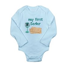 Baby's first Passover Long Sleeve Infant Bodysuit