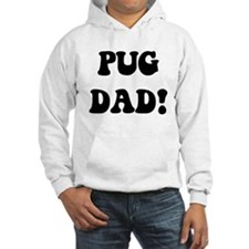 """""""pug dad"""" in blue and gold Hoodie"""