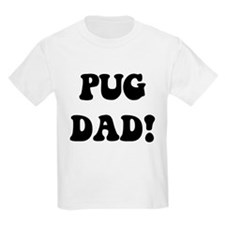 """""""pug dad"""" in blue and gold Kids T-Shirt"""