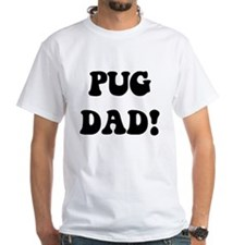 """""""pug dad"""" in blue and gold Shirt"""