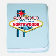 Snowmobiling/Welcome to the N baby blanket