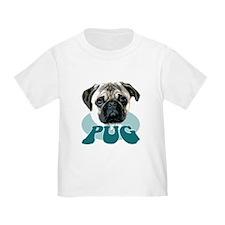 """""""pug"""" design tshirt T"""