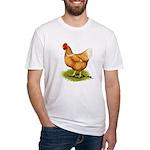Golden Sex-link Hen Fitted T-Shirt