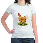 Golden Sex-link Hen Jr. Ringer T-Shirt