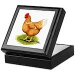 Golden Sex-link Hen Keepsake Box