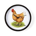 Golden Sex-link Hen Wall Clock