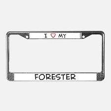 I Love Forester License Plate Frame
