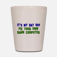 Won't Fix Computer Shot Glass