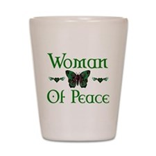 Woman Of Peace Shot Glass