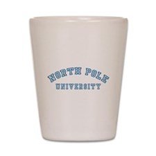 North Pole University Shot Glass