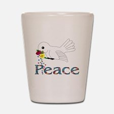 Peace Bird Shot Glass