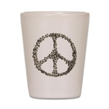 Skulls Peace Sign Shot Glass