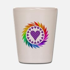 Rainbow Love Hearts Shot Glass
