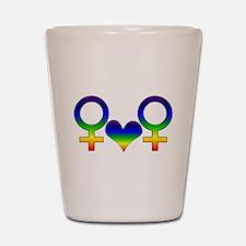 Lesbian Rainbow Symbol Shot Glass