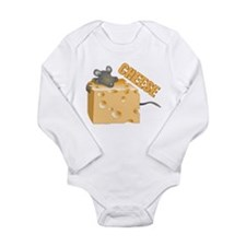 Mouse 'n Cheese Long Sleeve Infant Bodysuit