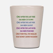 Rainbow Planet Quote Shot Glass