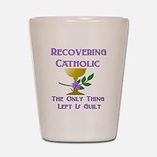Recovering Catholic Shot Glass