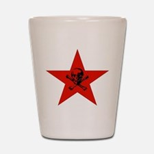 Red Star and Skull Shot Glass