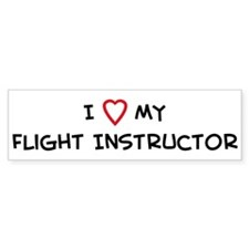 I Love Flight Instructor Bumper Car Sticker