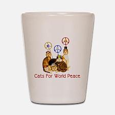 World Peace Cats Shot Glass