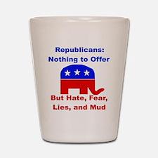 Anti-Republican Shot Glass