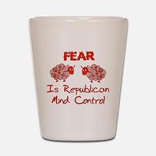 Fear Politics Shot Glass