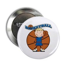 "Blond Boy Basketball 2.25"" Button"
