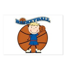 Blond Boy Basketball Postcards (Package of 8)