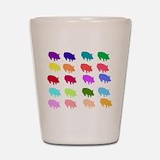 Rainbow Pigs Shot Glass