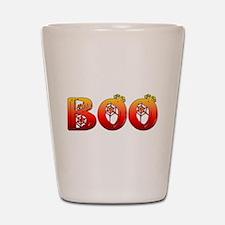 Boo Halloween T-Shirt Shot Glass
