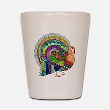 Patchwork Thanksgiving Turkey Shot Glass