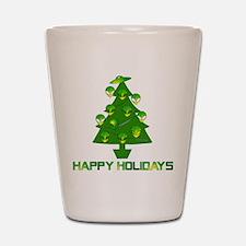 Alien Christmas Tree Shot Glass