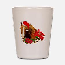 Christmas Horse Shot Glass