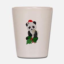 Christmas Panda Shot Glass